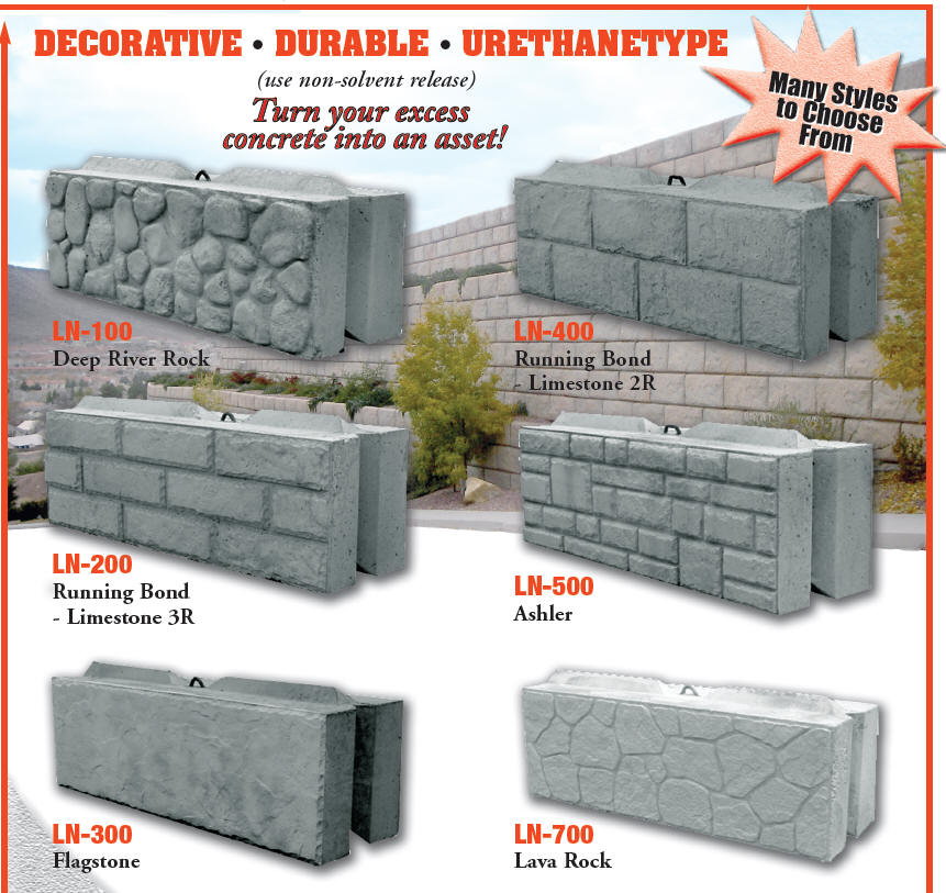 Decorative Block Wall leonard marr, inc. block forms - decorative liners - wall