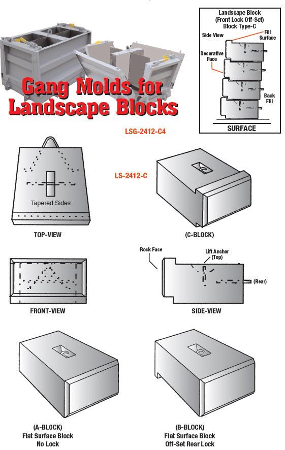 Leonard Marr Inc Block Forms Mini Landscaper Block